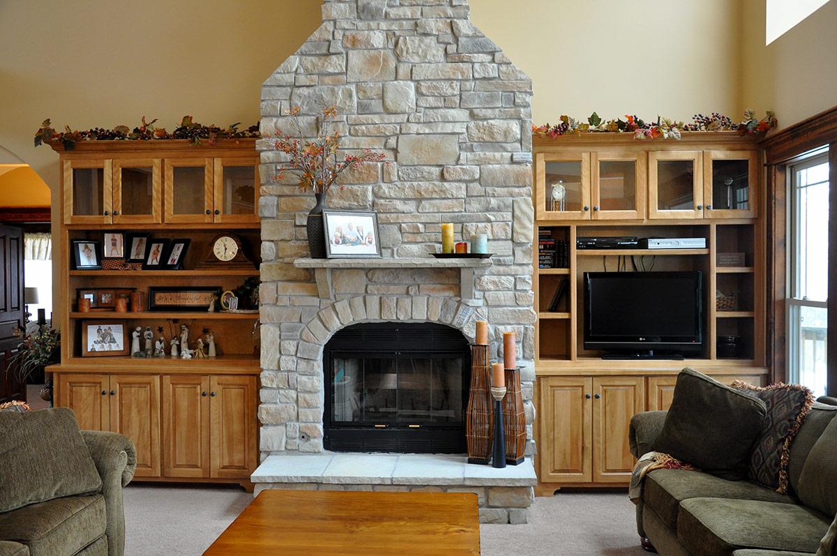 Bruder Cabinets - Fireplace Design -
